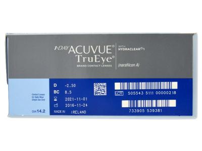 1 Day Acuvue TruEye (180lentile) - Parametrii lentilei