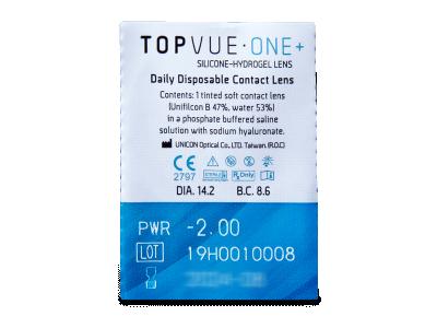 TopVue One+ (30 lentile) - Vizualizare ambalaj