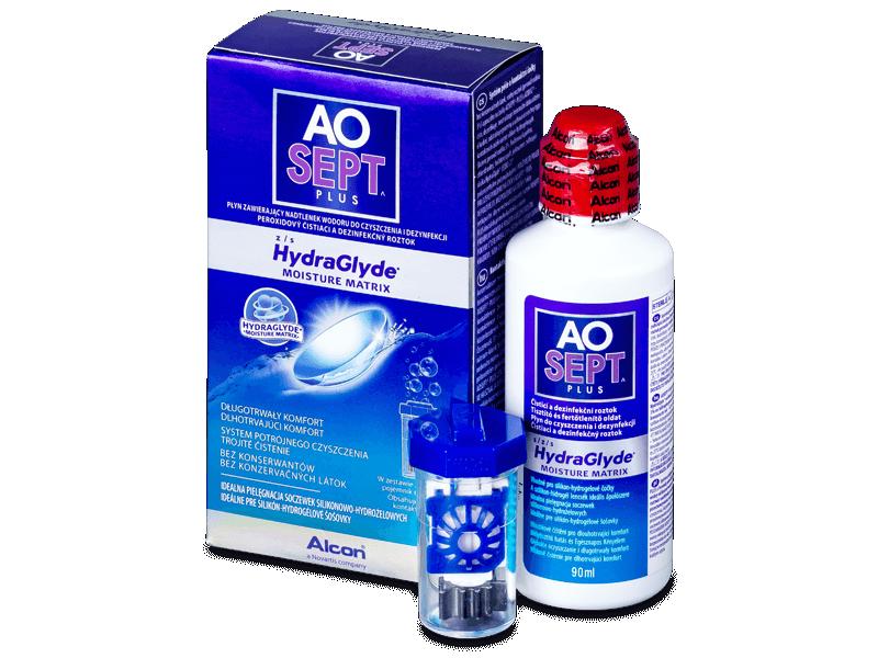 Soluție AO SEPT PLUS HydraGlyde 90ml  - Soluție de curățare