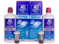 Soluție AO SEPT PLUS HydraGlyde 2x360ml  - Pachete speciale cu 2 soluții