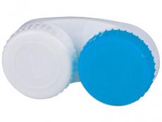 Suport lentile de contact - Suport pentru lentile - albastru&alb L+R