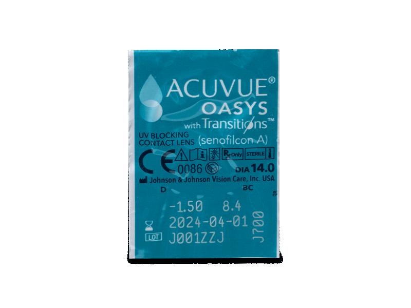 Acuvue Oasys with Transitions (6 lentile) - Vizualizare ambalaj