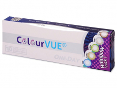Lentile de contact colorate - ColourVue One Day TruBlends Rainbow - fara dioptrie (10 lentile)