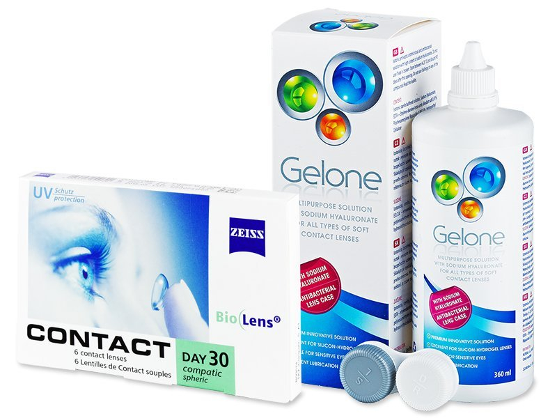 Carl Zeiss Contact Day 30 Compatic (6 lentile) + soluție Gelone 360 ml