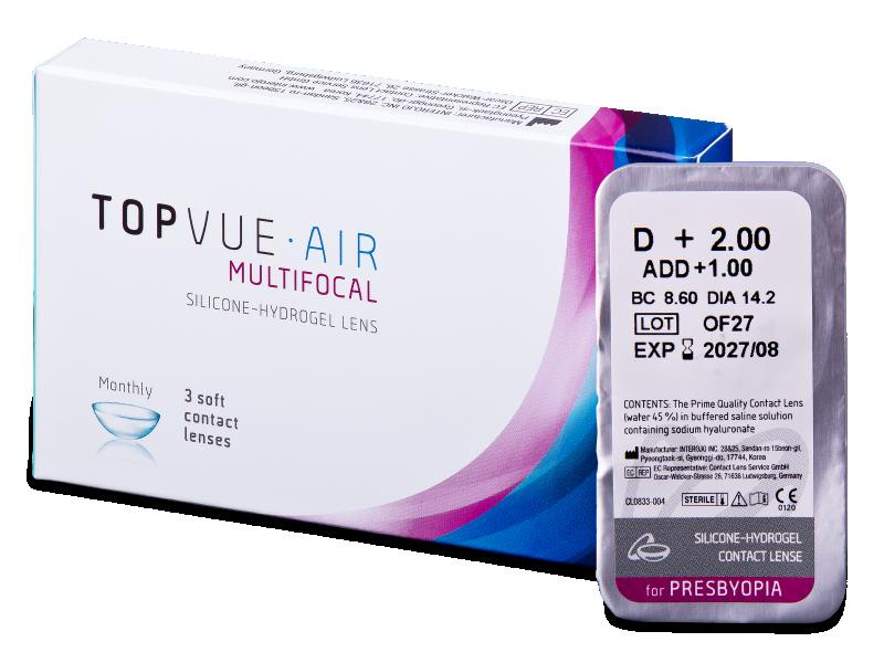 TopVue Air Multifocal (1lentile) - Lentile de contact multifocale