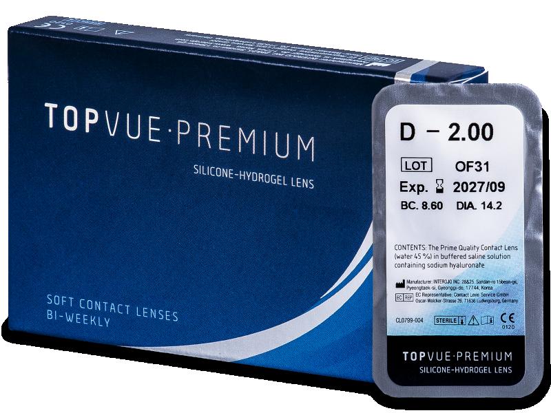 TopVue Premium (1 lentilă) - Lentile de contact bi-săptămânale