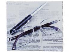 Accesorii ochelari - Lavetă de ochelari cu model - ziar