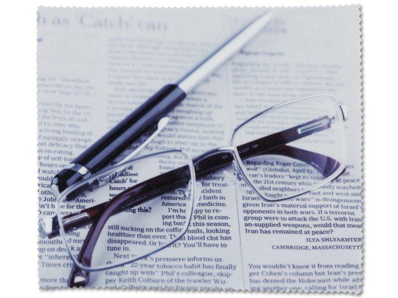 Lavetă de ochelari cu model - ziar