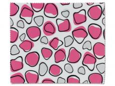 Accesorii ochelari - Lavetă de ochelari - roz și alb