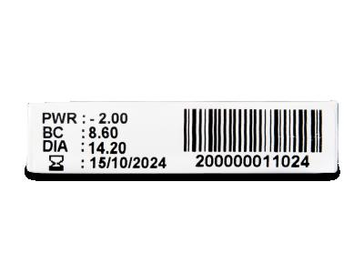 TopVue Monthly Plus (6 lentile) - Parametrii lentilei