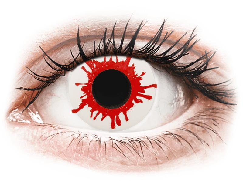 ColourVUE Crazy Lens - Wild Blood - daily plano (2lenses) - Lentile de contact colorate