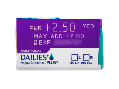 Dailies AquaComfort Plus Multifocal (90lentile) - Parametrii lentilei