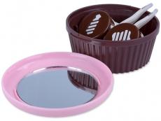 Suporți pentru lentile de contact - Casetă cu oglindă Brioșă - Roz