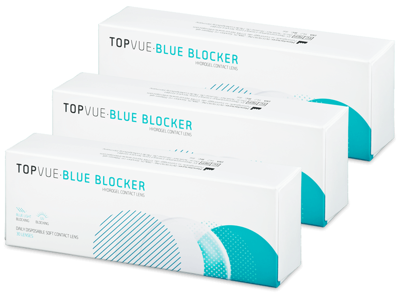 TopVue Blue Blocker (90 lentile) - Lentile de contact de unică folosință