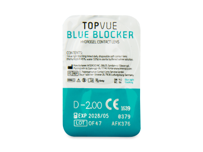TopVue Blue Blocker (180 lentile) - Vizualizare ambalaj