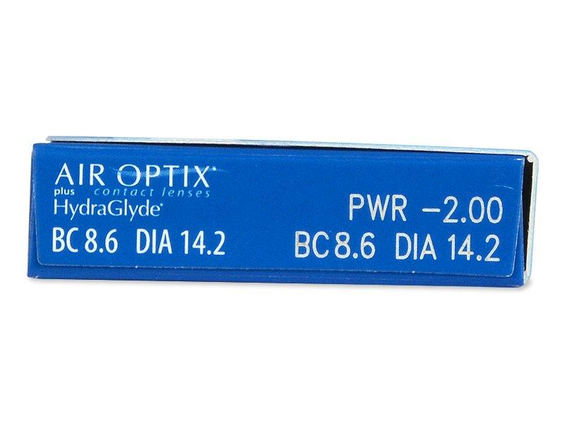 Air Optix plus HydraGlyde (6 lentile) - Parametrii lentilei