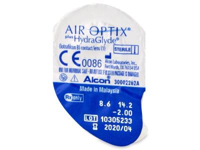 Air Optix plus HydraGlyde (6 lentile) - Vizualizare ambalaj
