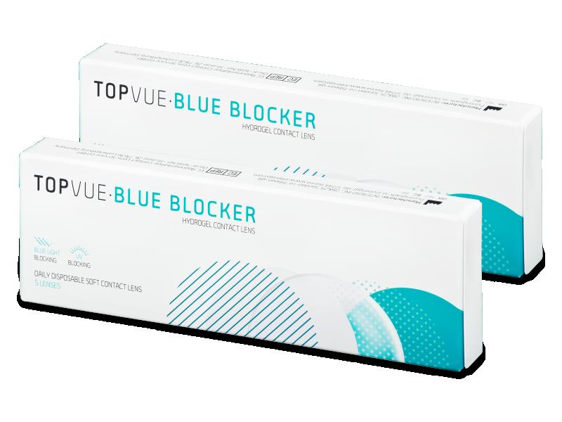TopVue Blue Blocker (5 perechi) - Lentile de contact de unică folosință