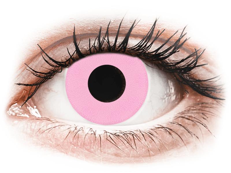 CRAZY LENS - Barbie Pink - lentile zilnice cu dioptrie (2 lentile) - Lentile de contact colorate