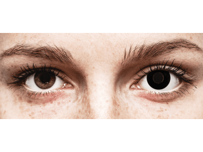 CRAZY LENS - Black Out - lentile zilnice cu dioptrie (2 lentile)