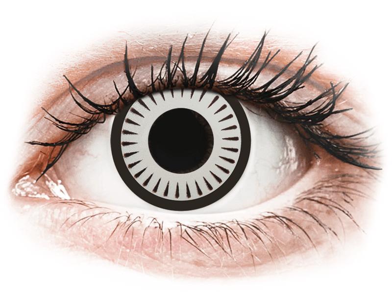 CRAZY LENS - Byakugan - lentile zilnice cu dioptrie (2 lentile) - Lentile de contact colorate