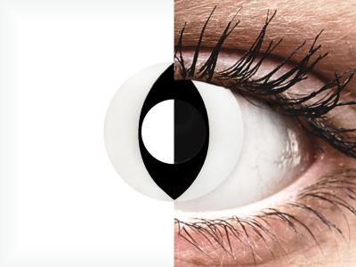 CRAZY LENS - Cat Eye White - lentile zilnice fără dioptrie (2 lentile)
