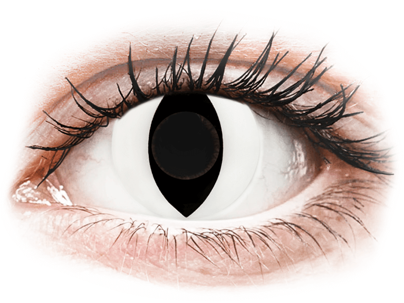 CRAZY LENS - Cat Eye White - lentile zilnice fără dioptrie (2 lentile) - Lentile de contact colorate