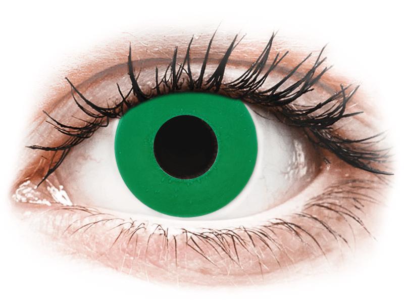 CRAZY LENS - Emerald Green - lentile zilnice cu dioptrie (2 lentile) - Lentile de contact colorate