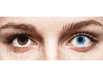 CRAZY LENS - Harlequin - lentile zilnice fără dioptrie (2 lentile)