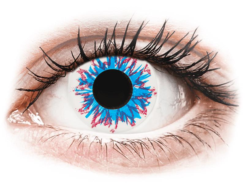 CRAZY LENS - Harlequin - lentile zilnice cu dioptrie (2 lentile) - Lentile de contact colorate