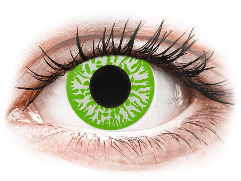 CRAZY LENS - Joker - lentile zilnice cu dioptrie (2 lentile) - Lentile de contact colorate