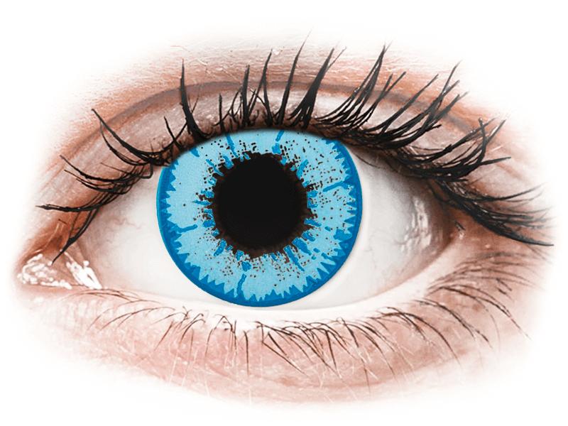 CRAZY LENS - Night King - lentile zilnice cu dioptrie (2 lentile) - Lentile de contact colorate
