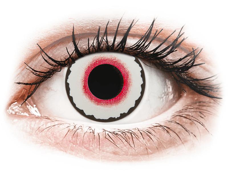 CRAZY LENS - Mad Clown - lentile zilnice fără dioptrie (2 lentile) - Lentile de contact colorate