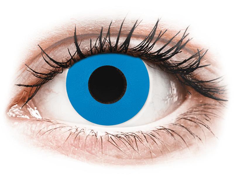 CRAZY LENS - Sky Blue - lentile zilnice cu dioptrie (2 lentile) - Lentile de contact colorate