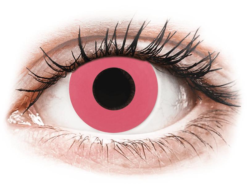 CRAZY LENS - Solid Rose - lentile zilnice cu dioptrie (2 lentile) - Lentile de contact colorate