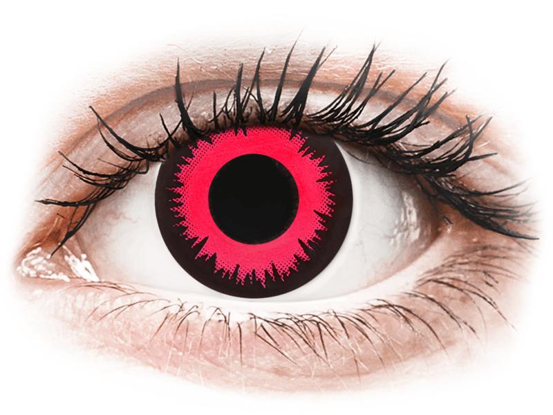 CRAZY LENS - Vampire Queen - lentile zilnice cu dioptrie (2 lentile) - Lentile de contact colorate