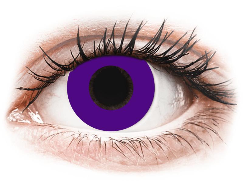 CRAZY LENS - Solid Violet - lentile zilnice fără dioptrie (2 lentile) - Lentile de contact colorate