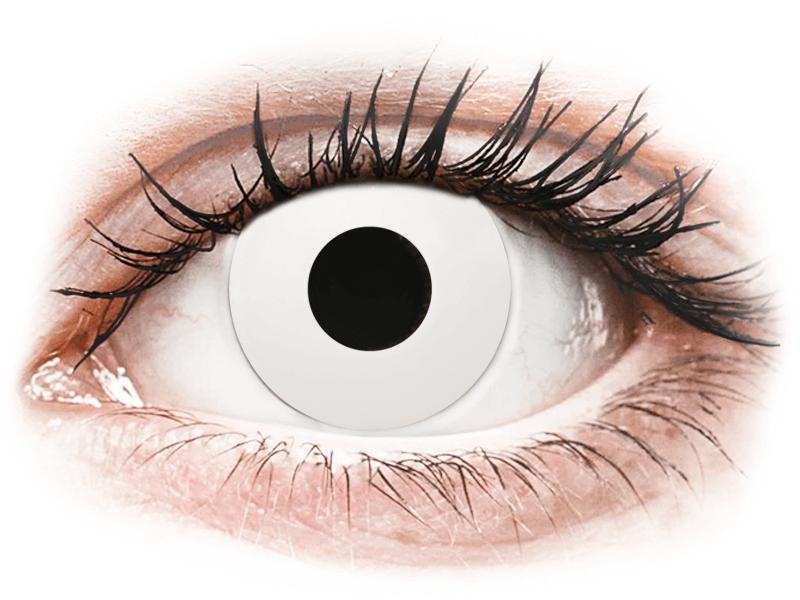 CRAZY LENS - WhiteOut - lentile zilnice fără dioptrie (2 lentile) - Lentile de contact colorate