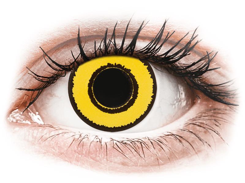 CRAZY LENS - Yellow Twilight - lentile zilnice cu dioptrie (2 lentile) - Lentile de contact colorate