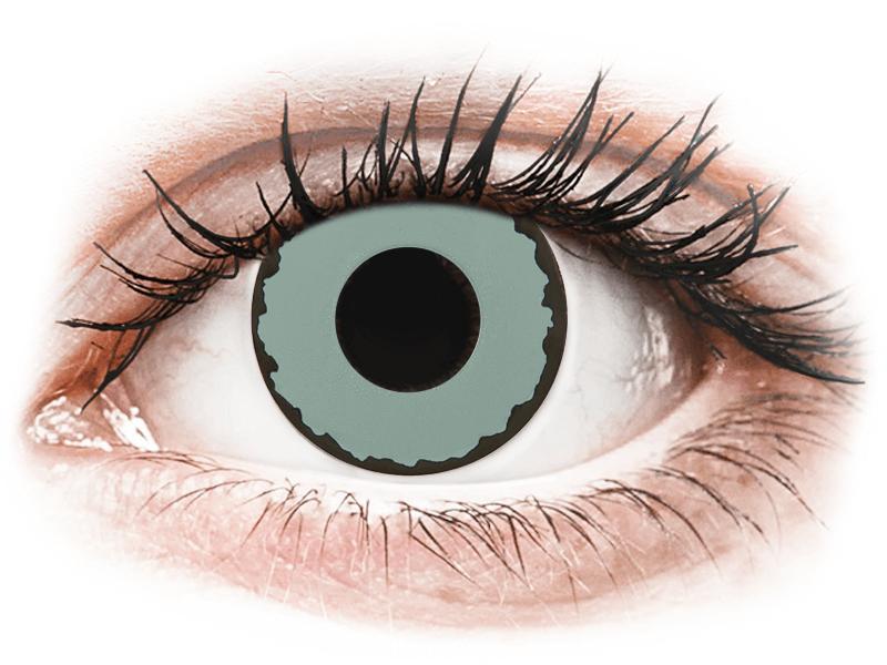 CRAZY LENS - Zombie Virus - lentile zilnice cu dioptrie (2 lentile) - Lentile de contact colorate