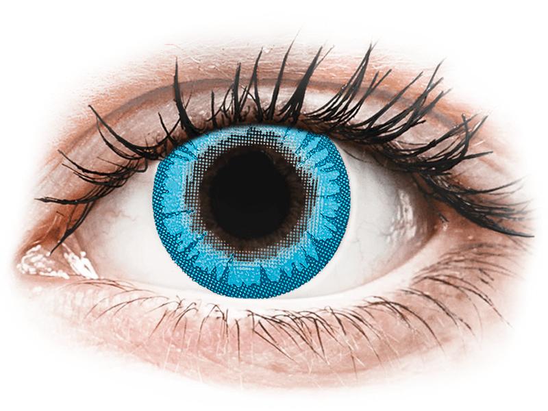 CRAZY LENS - White Walker - lentile zilnice fără dioptrie (2 lentile) - Lentile de contact colorate