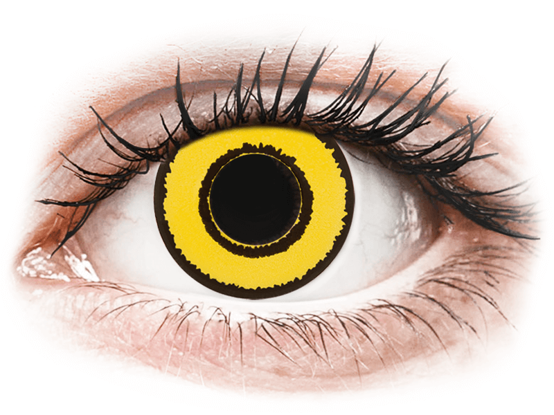 CRAZY LENS - Yellow Twilight - lentile zilnice fără dioptrie (2 lentile) - Lentile de contact colorate