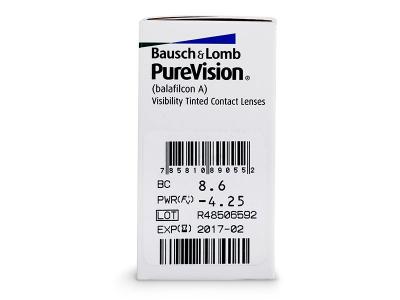 PureVision (6lentile) - Parametrii lentilei
