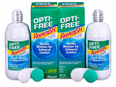 Soluție Opti-Free RepleniSH 2 x 300 ml  - Economy duo pack- solution