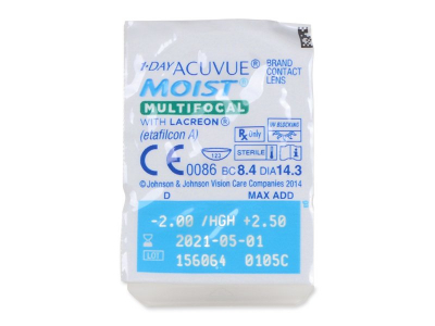 1 Day Acuvue Moist Multifocal (90 lentile) - Vizualizare ambalaj