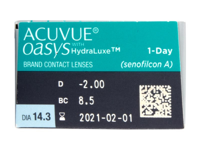 Acuvue Oasys 1-Day (30 lentile) - Parametrii lentilei