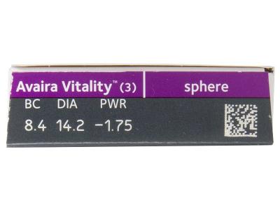 Avaira Vitality (3 lentile) - Parametrii lentilei