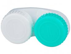 Suporți pentru lentile de contact - Suport pentru lentile verde și alb, cu marcajul L/R