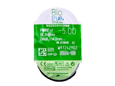 Biotrue ONEday (90 lentile) - Vizualizare ambalaj