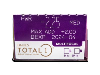 Dailies TOTAL1 Multifocal (30 lentile) - Parametrii lentilei